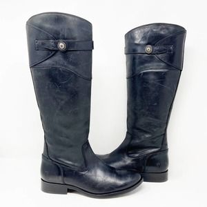 Frye Molly Button Riding Boots Knee High Leather
